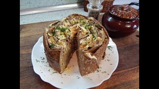 Печёночный торт( куриная печень).Liver cake (chicken liver)
