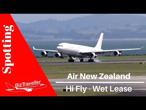 [Hi Fly A340 Wet Lease] for Air New Zealand Landing at Auckland Airport