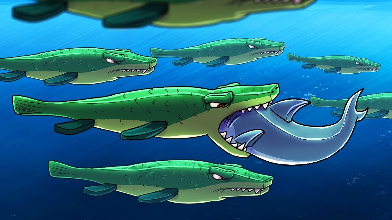Minecraft   HERD OF GIANT MOSASAURUS - Underwater ...
