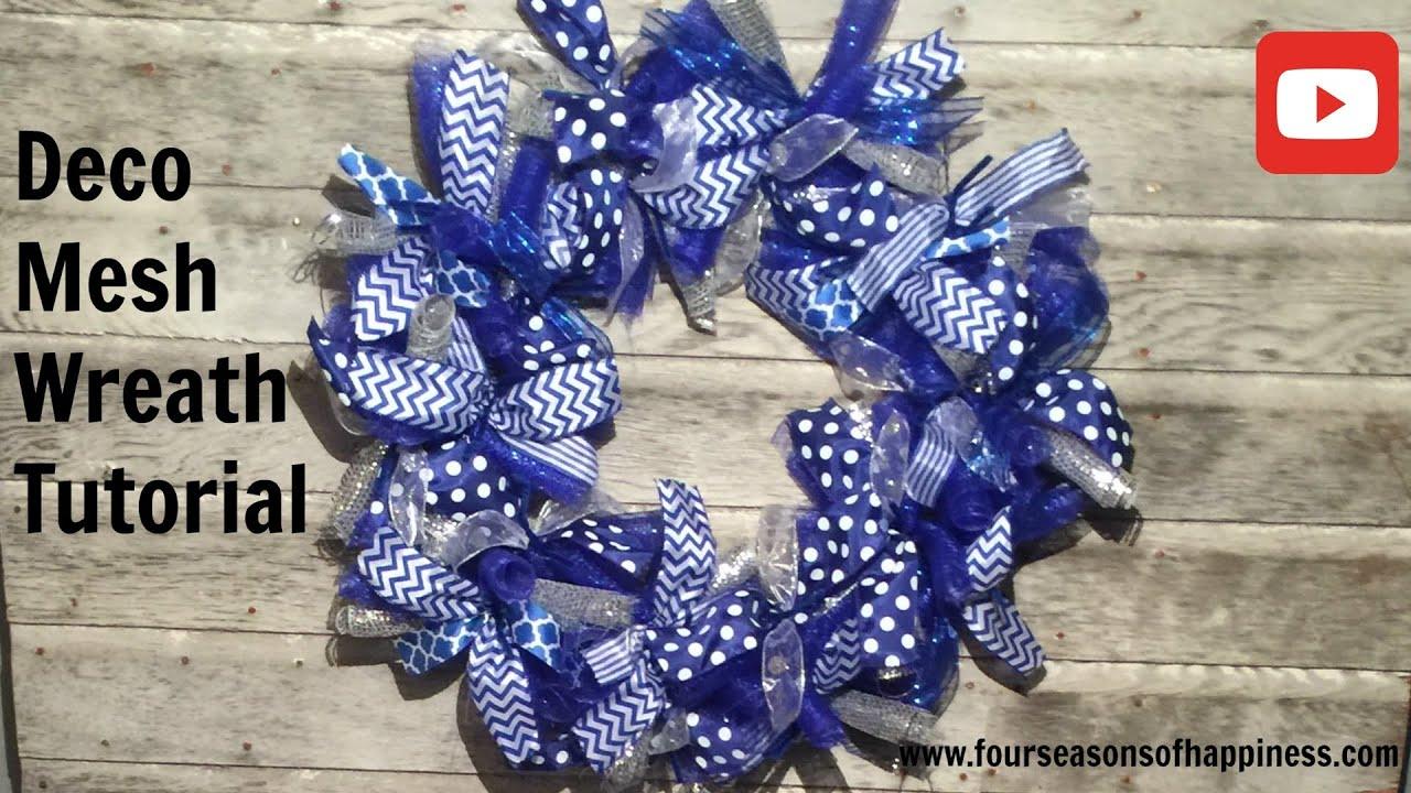Deco mesh wreath tutorial how to make deco mesh wreath how to deco mesh wreath tutorial how to make deco mesh wreath how to make blue deco wreath baditri Images