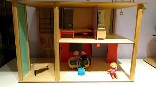 Djeco Cubic House Playset - Colorful, modern design dollhouse