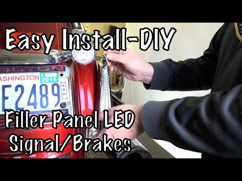 How to Install Ciro 3D Filller Panel LED Run-Brake-Signal LED Lights on Harley Touring