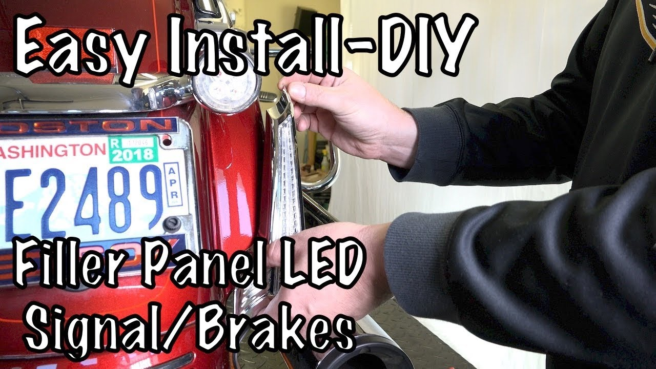 how to install ciro 3d filller panel led run brake signal led lights on harley touring [ 1280 x 720 Pixel ]