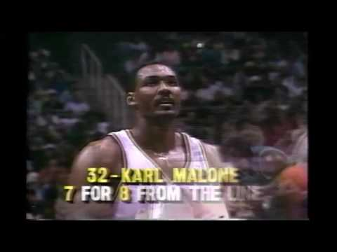 Del Curry & Rex Chapman Vs Jeff Malone & Karl Malone