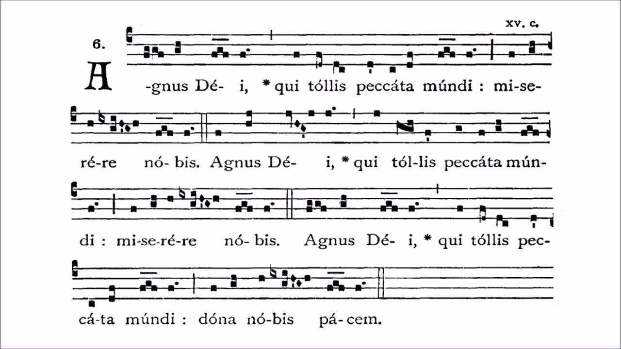 Image result for agnus dei chant