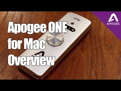 Apogee ONE For Mac - Getting Started