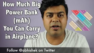 Hindi   How Much Bigger Power Bank You Can Carry in AirPlane   Gadgets To Use