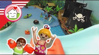 Playmobil english The Huge Slide at the Pirate Water Park - The Hauser Family