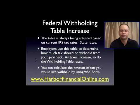 Federal Withholding Tax 2012, 2013 Increase