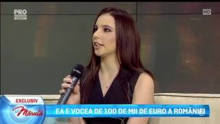 Ea e vocea de 100 de mii de Euro a Romaniei