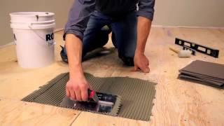 Укладка кварцвиниловой плитки - видео, клей для монтажа на фанеру