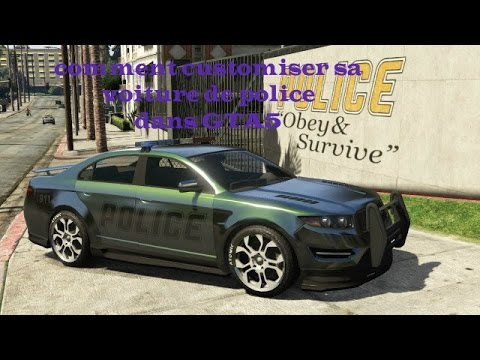 comment customiser sa voiture de police sur gta5 youtube. Black Bedroom Furniture Sets. Home Design Ideas