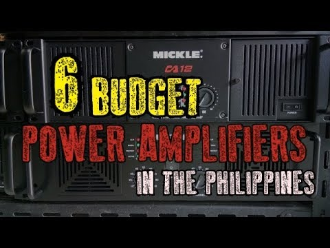 TOP 6 BEST BUDGET POWER AMPLIFIERS TO BUY IN THE PHILIPPINES - BUYING GUIDE - MICKLE,CA20,AD MC
