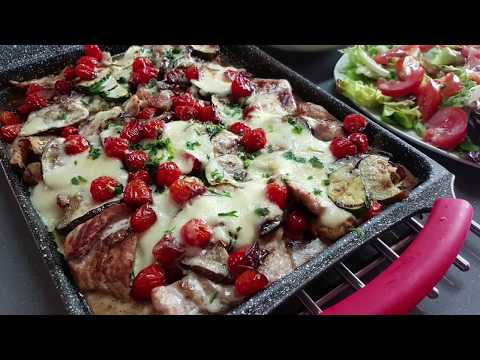 idée-de-recette-pour-le-dîner-escalope-cuisinée-autrement-et-sauce-fromagère