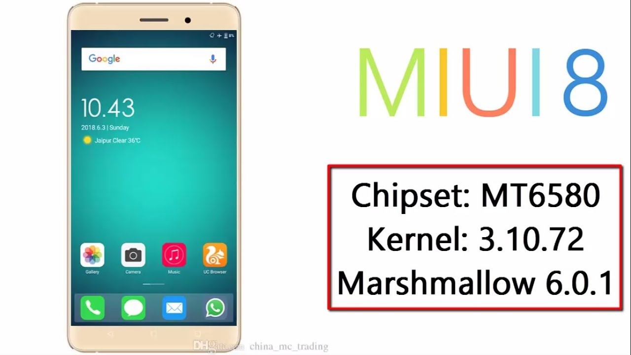 [MT6580] MIUI 8 ROM for MT6580 Kernel 3 10 72 MM 6 0 1