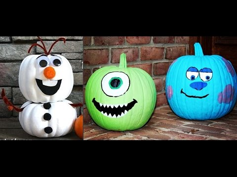 disney no carve halloween pumpkins 30 decorating ideas frozen rh youtube com