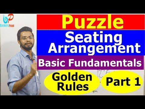 Puzzle and Seating Arrangement Part 1   Basics   Reasoning   SBI Clerk 2018   IBPS RRB PO Clerk  