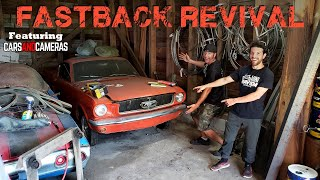 Parked '65 Mustang FASTBACK First Start in 33 YEARS!!