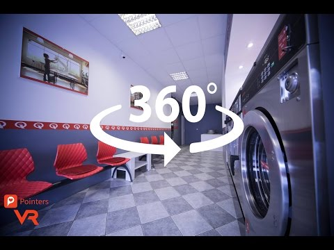 Self-service Laundry Q-Laundry Vešos —Osijek | 360º VR | Pointers Travel