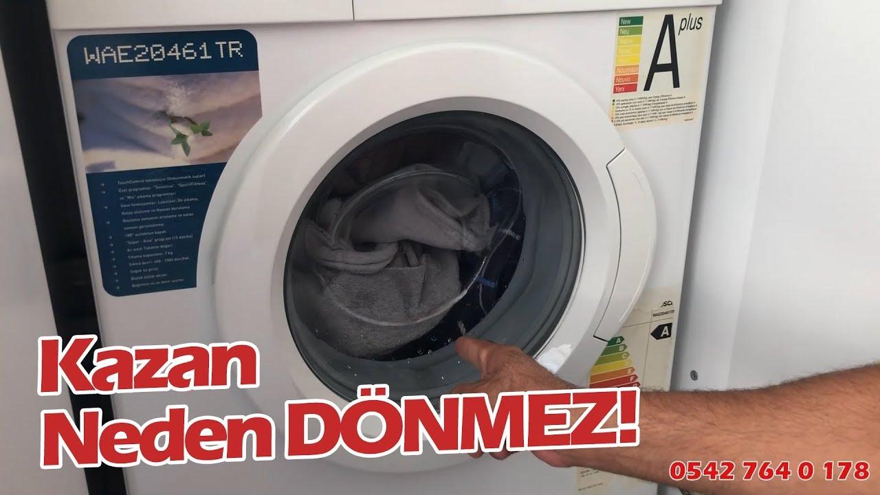 Çamaşır Makinesi Kazanı Neden Dönmez! Çamaşır Makinesi Neden Sıkmaz ve Ses Yapar Bosch Maxx 7 #bosch
