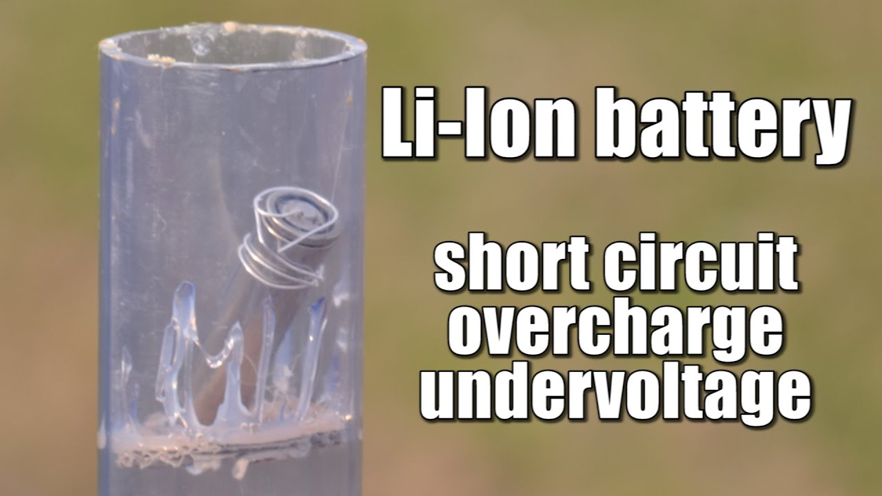 Li Ion Battery Short Circuitoverchargeundervoltage Experiment And Low Voltage Protection Circuit Protectionin Car