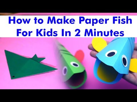 How to Make Paper Fish | Creating Paper Fish | Paper Art and Craft for Kids