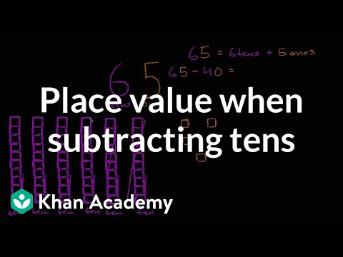 Understanding Place Value When Subtracting Tens | Early Math | Khan Academy