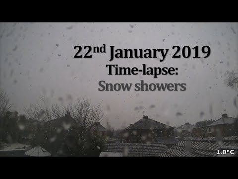 22 January 2019 Time-lapse: Snow showers