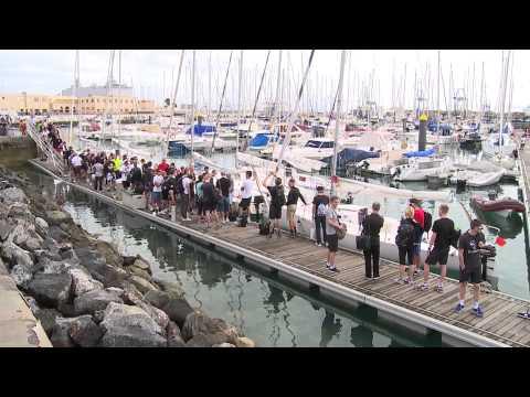 Alberto Contador y el Saxo Bank entrenan en Las Palmas de Gran Canaria