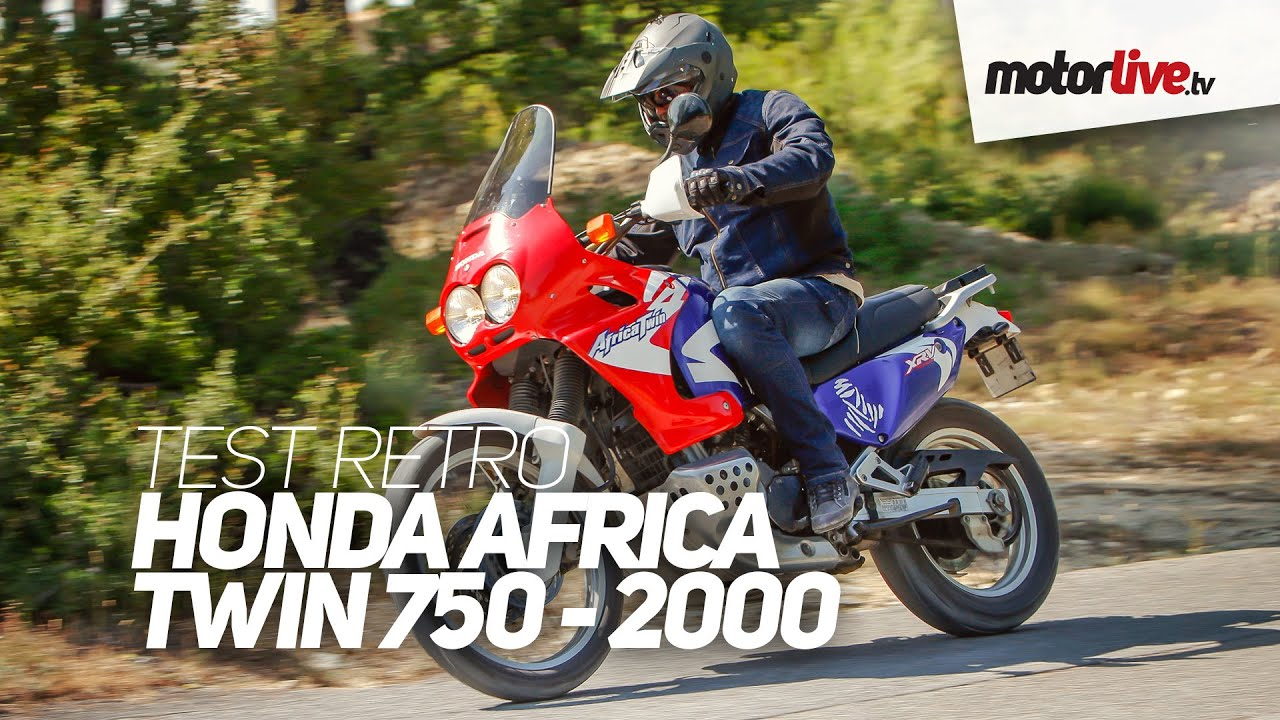 test retro honda africa twin 750 2000 youtube. Black Bedroom Furniture Sets. Home Design Ideas