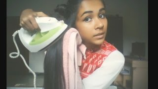 How to straighten your hair perfectly with a cloth iron| Must Watch| Works 100%
