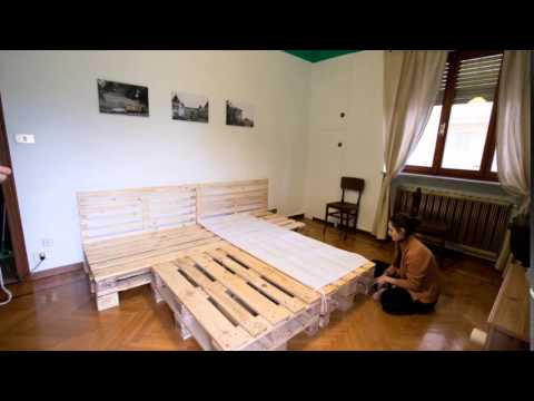 Letto di pallet timelapse youtube - Letto con pallet ...