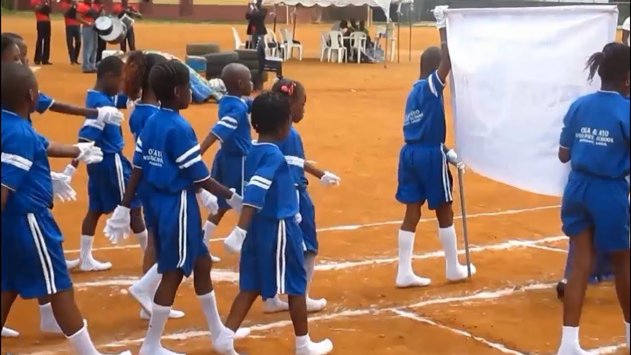 Nigerian School Interhouse Sports Marching Youtube