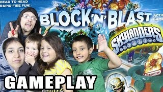 The Skylander Family plays Block