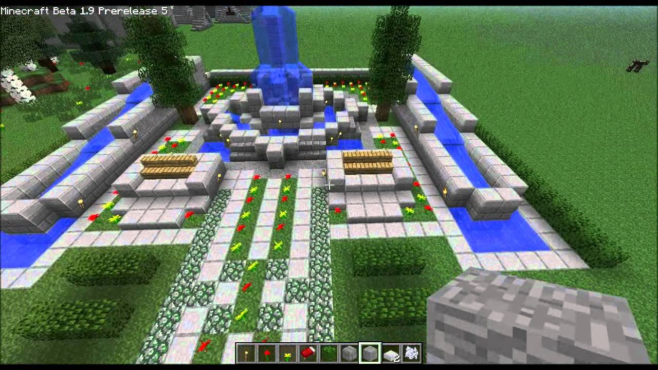 Minecraft Home Design ep. 25 (Fountains) - YouTube