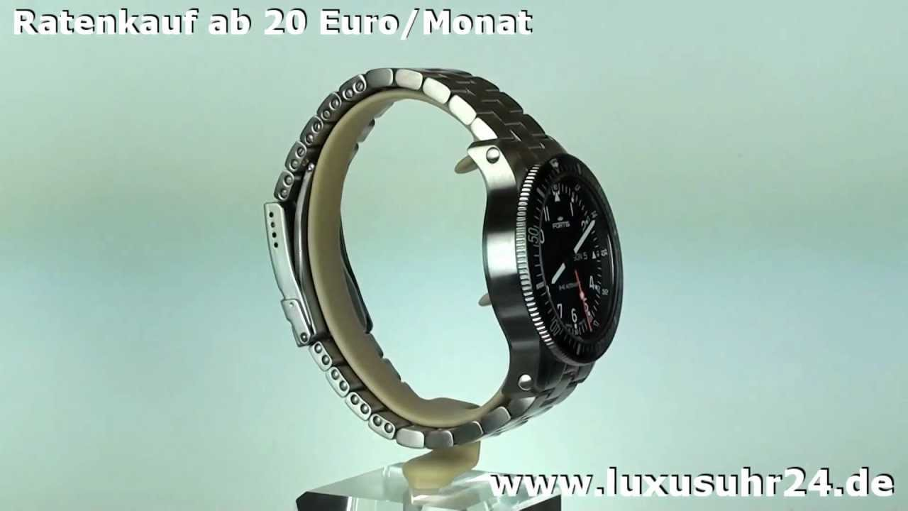 Fortis B 42 Official Cosmonauts Day Date 647.10.11.M luxusuhr24 Ratenkauf ab 20 Euro/Monat   YouTube