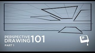 7-3) Рисование в сетке перспективы ч.1 (Perspective 101 pt. 1) (CtrlPaint.com)