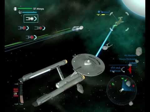 Star Trek Legacy: USS Enterprise + Constitutions VS Romulans