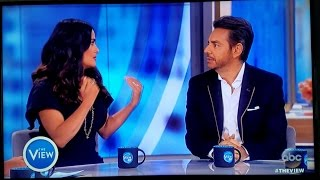 Salma Hayek and Eugenio Derbez talk about Donald Trump on The View