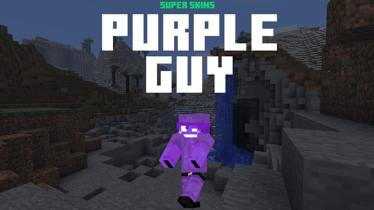 Amazing Purple Guy Minecraft Skin ⚡ Download and Install Links ⚡ Purple Guy