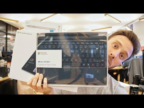 Surface Pro (2017), Signature Type Cover, & Surface Pen Unboxing & Specs