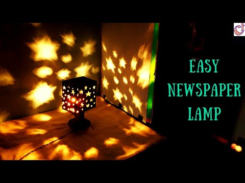 DIY Newspaper Lampshade | Easy Home Decoration ideas