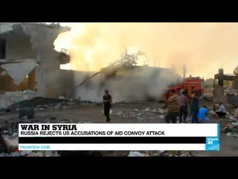 Syria: Russia denies US claim of deadly air strikes on UN aid convoy