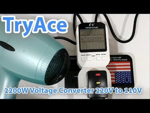 TryAce 2200W Voltage Converter And 10A Travel Adapter With 4-Port Step Down 220V To 110V FULL REVIEW