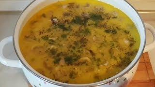 Сырный суп с грибами, цыганка готовит. Перезалив. Gipsy cuisine.