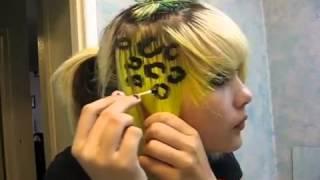 Леопардовое окрашивание пряди волос