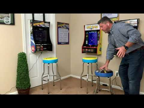 Arcade1Up Adjustable Retro Home Arcade Machine Gaming Stool on QVC from QVCtv