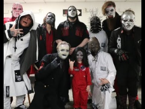 5 year old drummer meets and hangs out with Slipknot at Birmingham, England show!
