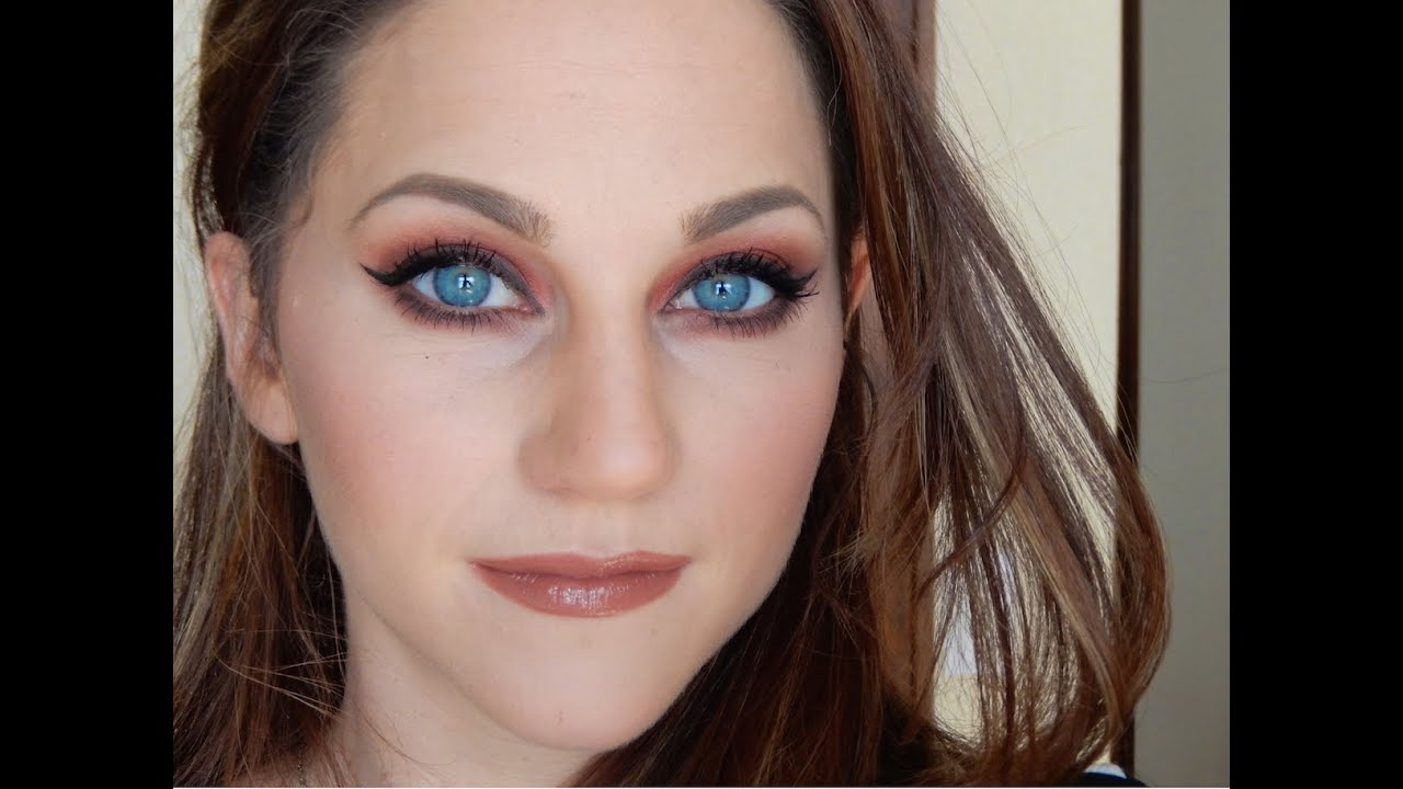 Warm Red Grunge Makeup Look For Blue And Green Eyes Youtube