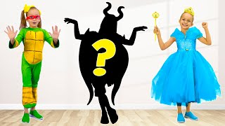 Maya learns and guesses the shadows Princesses - Song for children